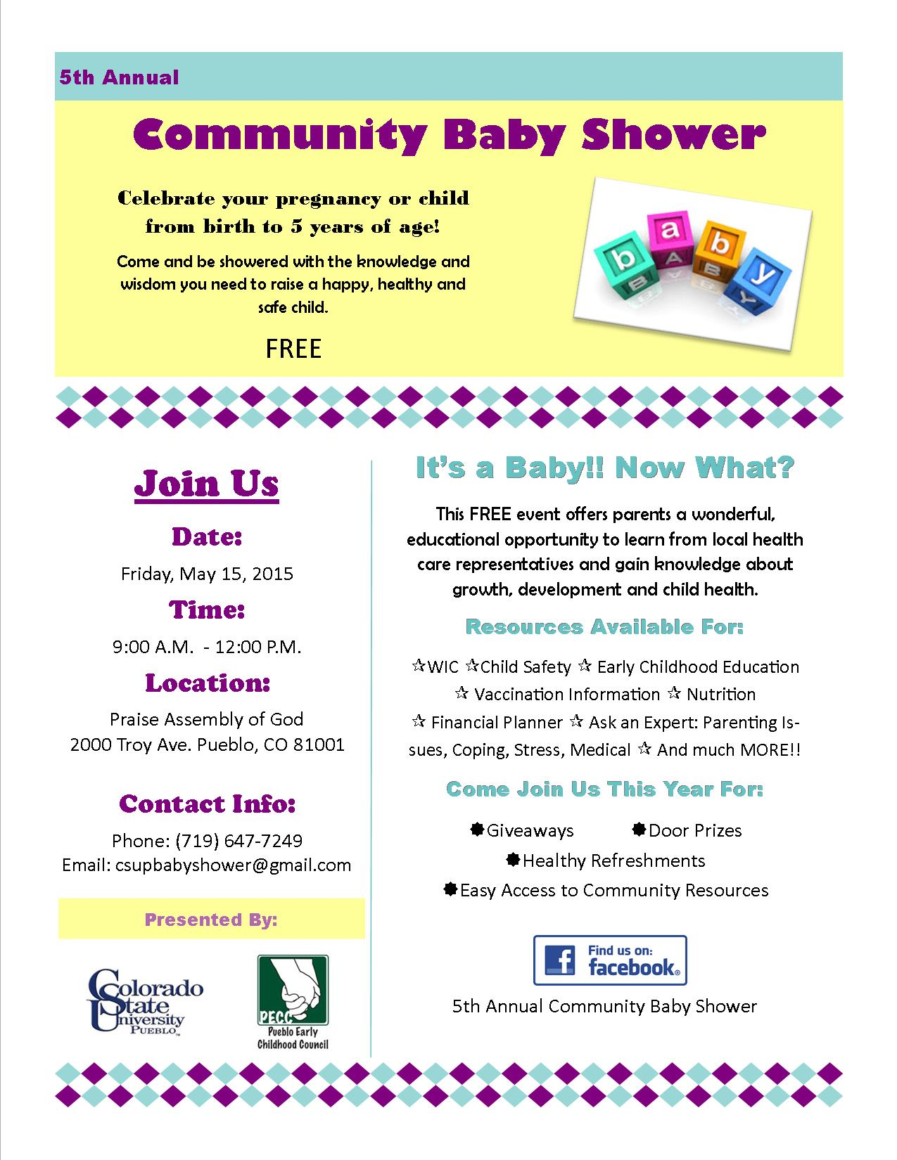 Up ing Events 5th Annual munity Baby Shower